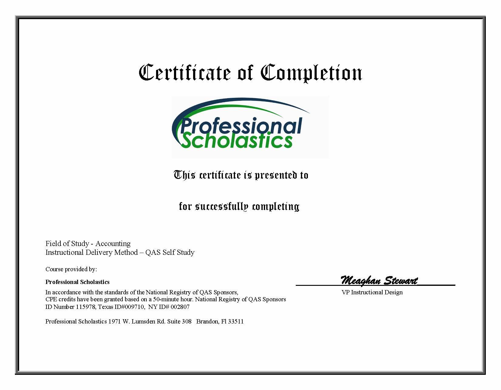 Certificates. Revenue & Margin Analysis 2 Credit Hour Course